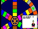 Trivial Pursuit SEGA Master System Now where should I go? Black outlines show me the options.