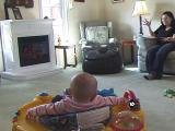 Baby Runs This Mofo Windows Surprising mom by exploding the footstool.