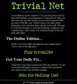 Trivial Net Browser Starting a new game