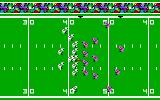 Super Bowl Sunday PC Booter Beginning a play (PCjr).
