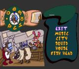 The Ren & Stimpy Show: Time Warp SNES Options and password screen