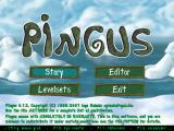 Pingus Windows Main menu