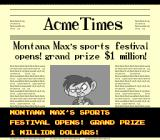 Tiny Toon Adventures: Wacky Sports Challenge SNES Montana Max offering a cash prize, yeah that really fits his character