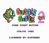 Bubble Bobble Part 2 NES Title screen.