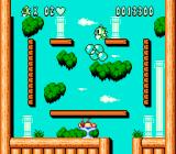 Bubble Bobble Part 2 NES Defeat all the enemies in one shot and the game will give you bonus food items.