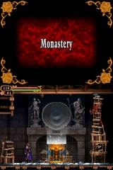 Castlevania: Order of Ecclesia Nintendo DS A teleport room. Featuring some neat sprite distortion effects.
