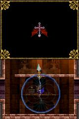 Castlevania: Order of Ecclesia Nintendo DS Found the first support glyph - this one allows Shanoa to rubber band around special markers allowing for some cool aerial maneuvers.