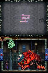 Castlevania: Order of Ecclesia Nintendo DS Fighting the first boss. Don't be deceived by its ease - all subsequent bosses in the game are absolute bastards.