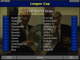 Championship Manager: Season 97/98 DOS The First Round Draw shows the teams playing in this league.