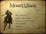 Mount&Blade Windows Main menu