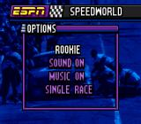 ESPN Speed World SNES Options