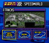 ESPN Speed World SNES Choose a track.