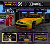ESPN Speed World SNES Other car setup options