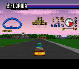 ESPN Speed World SNES How far behind the car is from 1st.