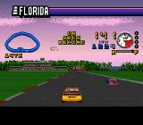ESPN Speed World SNES The mini map shows where the players car is on the track.