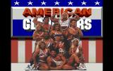 American Gladiators DOS Title screen showing the cast.