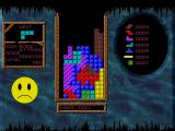 Acid Tetris DOS If things look perilous the smiley gets naturally worried.