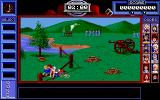 Bill & Ted's Excellent Adventure DOS Avoid the cannonballs, and debris in the battlefield to get Napoleon. (MCGA/VGA)