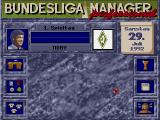 Bundesliga Manager Professional DOS A manager's main window of control (German version)