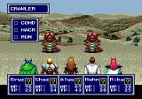Phantasy Star IV Genesis Battling outside. Aren't the graphics fabulous?