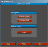 GM Hockey 2009 Windows Let's start the game