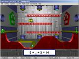 Math Blaster: Episode 2 - Secret of the Lost City Windows These ugly particles all want to get through carrying a number, get only the one that fits the blank.