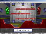 Math Blaster: Episode 2 - Secret of the Lost City Windows Finishing up with Spot. Red lights are for incorrect numbers.