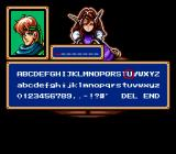 Shining Force Genesis Choosing a name for the hero