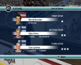 NHL 09 Windows Three stars are highlighted after the patch ends.
