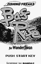 Fishing Freaks: BassRise for WonderSwan WonderSwan Title screen