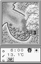 Fishing Freaks: BassRise for WonderSwan WonderSwan A charming cove with lilly pads... or a screaming face with a tongue rash... however you want to look at it.