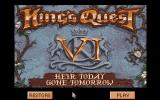 King's Quest VI: Heir Today, Gone Tomorrow Amiga The title screen.