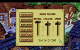 King's Quest V: Absence Makes the Heart Go Yonder! Amiga The control menu.
