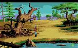 King's Quest V: Absence Makes the Heart Go Yonder! Amiga Near a tree with a bee hive.