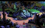 King's Quest V: Absence Makes the Heart Go Yonder! Amiga A path in the dark forest.