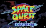Space Quest I: Roger Wilco in the Sarien Encounter Amiga The title: Space Quest