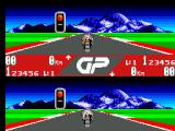 "GP Rider SEGA Master System Getting ready to go for the qualifying lap with my new CPU mate ""Wayne"". I am on the bottom screen.."