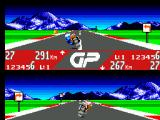 GP Rider SEGA Master System Wayne is about to take a left corner and I am about to take a right corner as indicated by the very helpful signs.