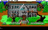 King's Quest IV: The Perils of Rosella DOS AGI: A spooky old house.