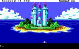 King's Quest IV: The Perils of Rosella DOS AGI: There is a palace on that island.