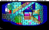 King's Quest IV: The Perils of Rosella DOS AGI: Walking up a stairway inside of Genesta's palace.
