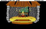 King's Quest IV: The Perils of Rosella DOS AGI: Rosella plays an old organ.