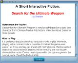Search for the Ultimate Weapon Windows Instructions