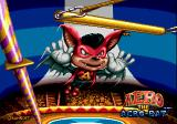 Aero the Acro-Bat Genesis Title screen