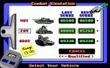 Heavy Metal DOS Selecting the Vehicle (EGA)
