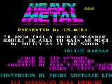 Heavy Metal ZX Spectrum Title Screen