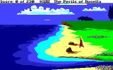 King's Quest IV: The Perils of Rosella Amiga Start of the game. On a beach in the land of Tamir.
