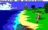 King's Quest IV: The Perils of Rosella Amiga The fisherman's home is in the distance.
