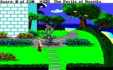 King's Quest IV: The Perils of Rosella Amiga Walking in the garden of Genesta's palace.