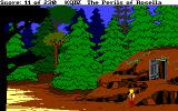 King's Quest IV: The Perils of Rosella Amiga Outside the dwarves' mine.